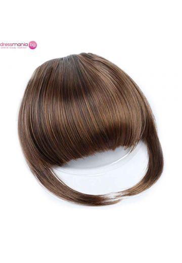 Аксесоар за коса бретон синтетичен косъм #230