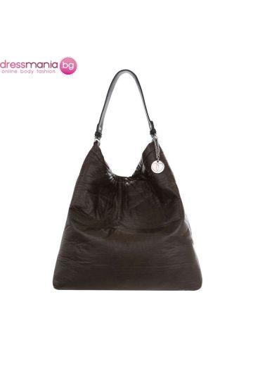 Дамска чанта в тъмно петроленозелено