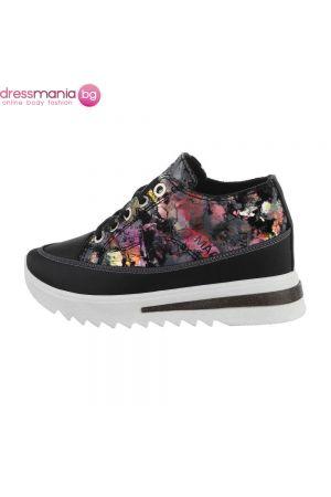 Спортни дамски обувки с флорален принт