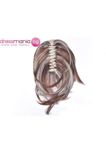 Опашка от синтетичен косъм с плитки и шнола 30см 27H613