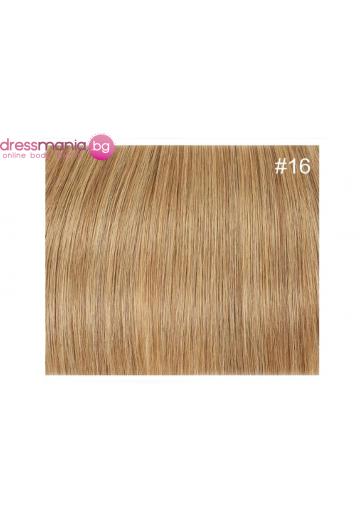 Екстеншън естествена коса в светлорус цвят