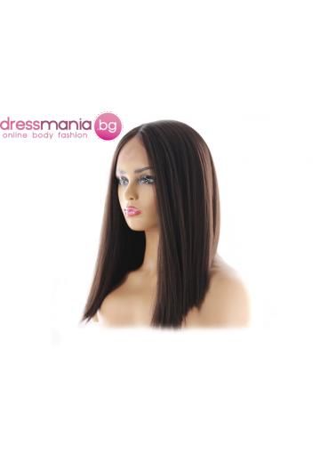 Перука каре от синтетичен косъм 35 см - цвят #2