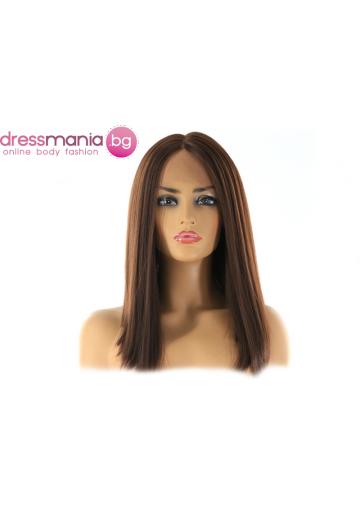 Перука каре от синтетичен косъм 35 см - цвят #4