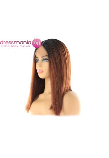 Перука каре от синтетичен косъм 35 см RT1B