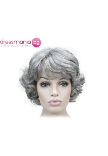 Къса дамска перука - синтетична 30 см #1021