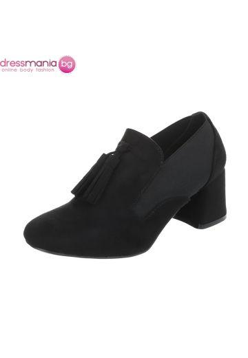 Ежедневни дамски обувки в черен набук Kayla