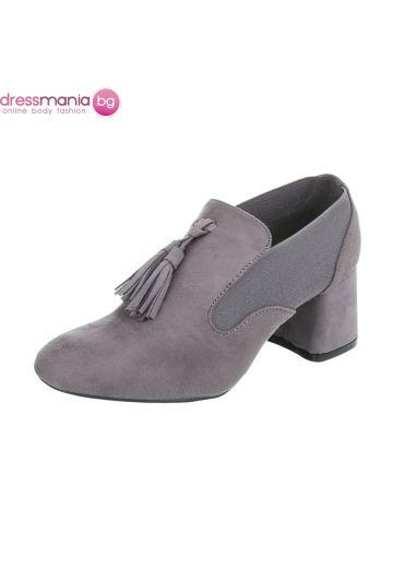 Ежедневни дамски обувки в сив набук Kayla