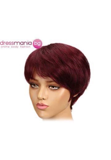 Дамска перука къса от естествена коса #4_99J