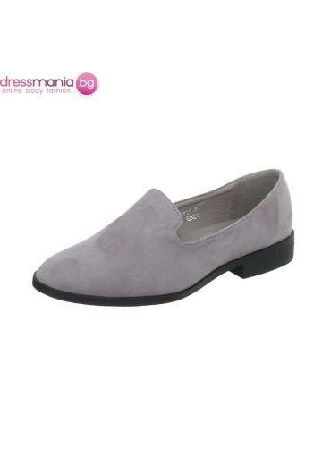 Ежедневни дамски обувки в нежно сиво