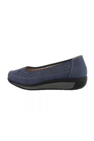 Удобни дамски обувки в син индигов цвят