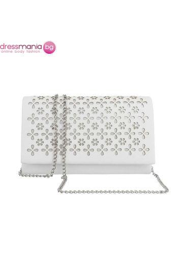 Сватбена дамска чанта с флорален дизайн