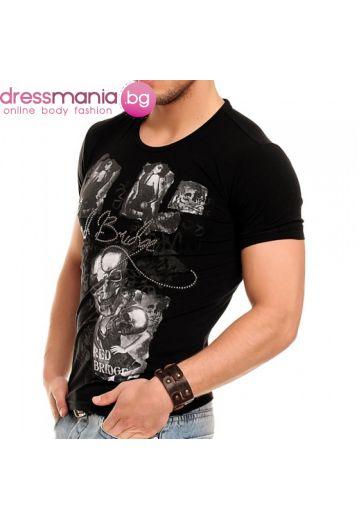 Черна тениска фънки принт