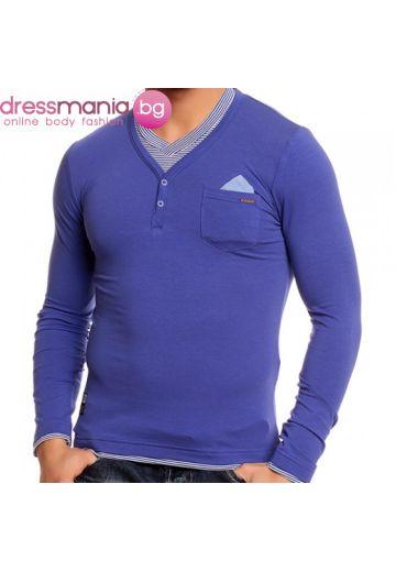 Ежедневна блуза CHROME интензивно синьо