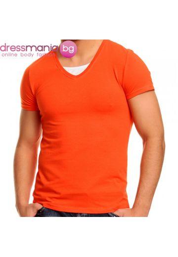 Тениска в интензивно оранжево
