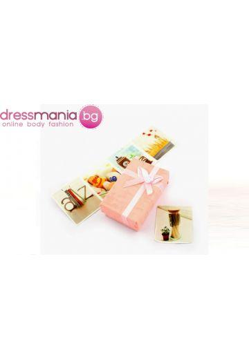 Розова правоъгълна подаръчна кутия Dekolte