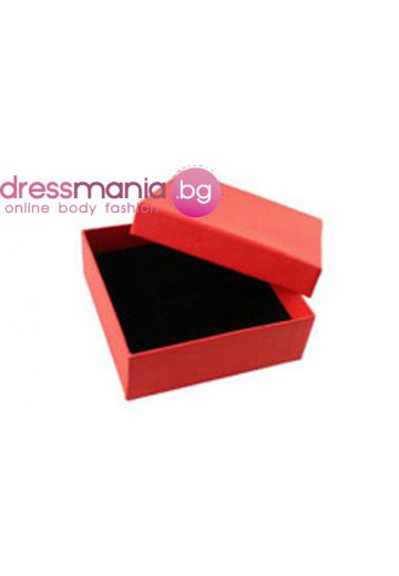 Червена подаръчна кутия правоъгълна Dekolte