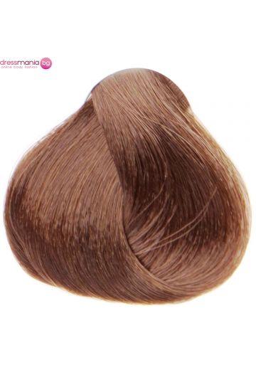 Естествена коса за удължаване на стикер цвят светъл лешник махагон  #33