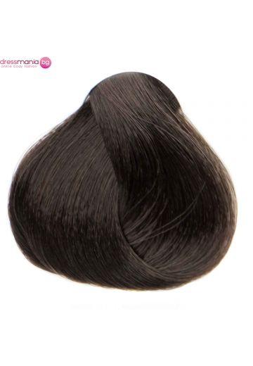 Естествена коса за удължаване на стикер цвят тъмнокестеняв  #2
