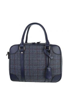 Дамска чанта синьо каре