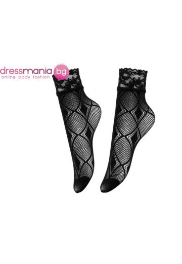 Дамски къси мрежести чорапи в черно Aidomy F