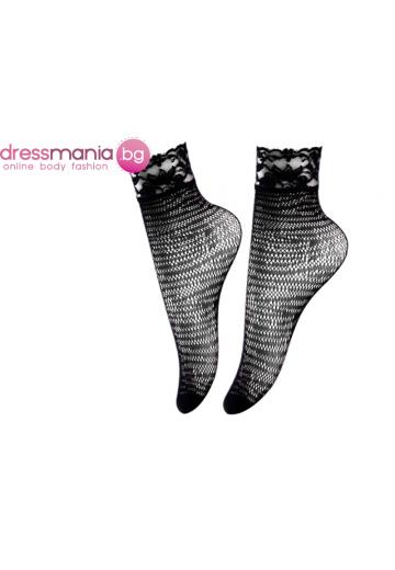 Дамски къси мрежести чорапи в черно Aidomy J