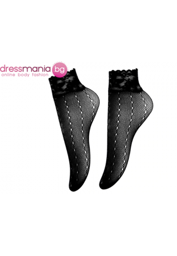 Дамски къси мрежести чорапи в черно Aidomy Q