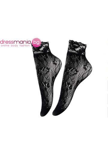 Дамски къси мрежести чорапи в черно Aidomy U