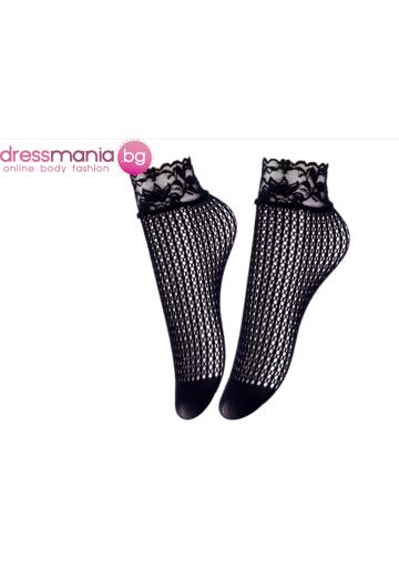 Дамски къси мрежести чорапи в черно Aidomy G