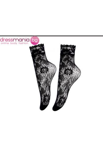 Дамски къси мрежести чорапи в черно Aidomy M