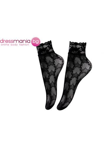Дамски къси мрежести чорапи в черно Aidomy T