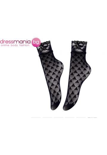 Дамски къси мрежести чорапи в черно Aidomy V