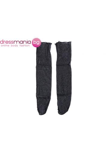 Фини мрежести дамски чорапи в черно A