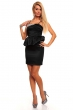 Изискана рокля с пеплум и сребрист декор