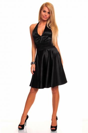 Предизвикателна черна рокля
