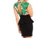 Елегантна рокля в черно и зелено