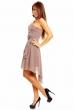 Официална рокля с воал в опушен нюанс