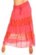 Розово-червена пола-рокля