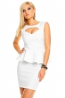 Атрактивна рокля в бяло с пеплум