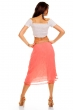 Лятна пола в цвят сьомга