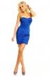 Официална гофрирана рокля в кралско синьо