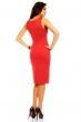 Елегантна рокля прав силует цвят червен Mayadi