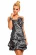 Официална графит рокля със сатенен ефект