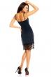 Елегантна рокля в тъмносиньо с дантела