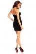 Черна рокля с декоративни ивици