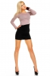 Двуцветна рокля по тялото черно и опушено кафяво