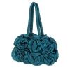 Официална чанта в синьо зелено