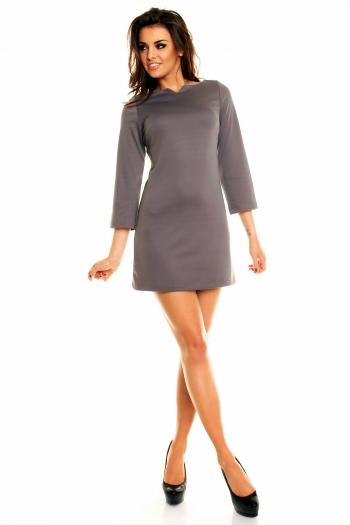 Елегантна сива рокля в ретро стил