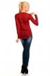 Блуза в бордо с атрактивна бродерия