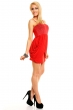 Нежна рокля в класическо червено