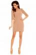 Елегантна дамска рокля в блед нежен цвят